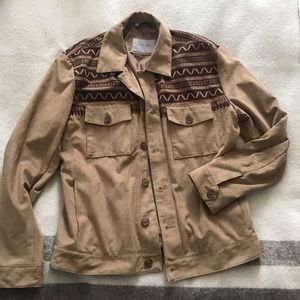 Men's lined jacket with western detailing